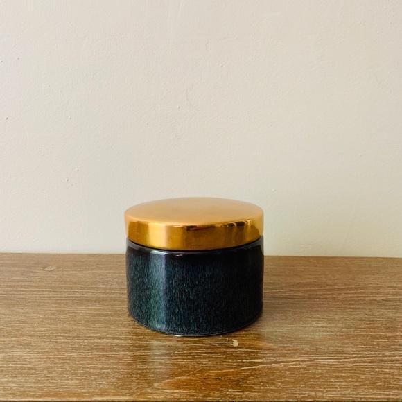 Bloomingville | Stoneware Box W/ Gold Lid NWT